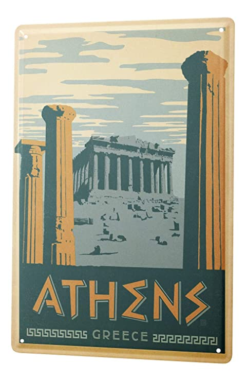 Amazon.com: Tin Sign XXL Travel Kitchen Athens Greece ...
