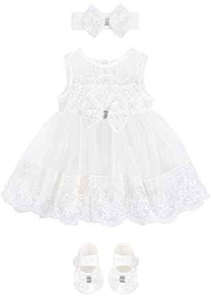 e6e278794a Taffy Baby Girl Christening Baptism Embroidered Dress Gown 6 Piece Deluxe  Set 0-3 Months