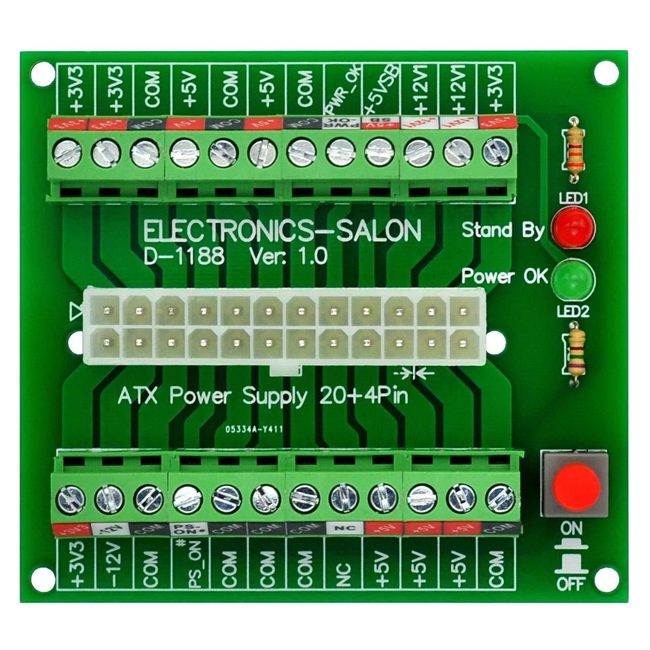 ZQDL 1//5 unids nuevo 24pin 20+4pin dual PSU ATX fuente de alimentaci/ón adaptador cable conector para miner/ía 30 cm