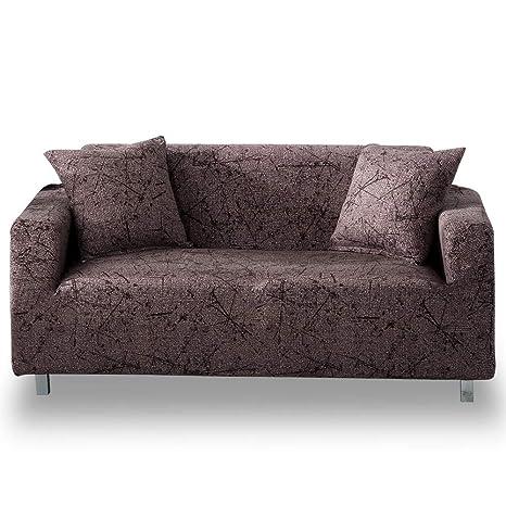 HOTNIU Funda Sofa 3 Plazas (175-220 cm) Elastica, Cubre/Protector Sofá Ajustables Estampado, Fundas Decorativas para Sofas Antideslizante, Cubierta ...