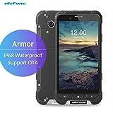 "Ulefone Smartphone Impermeabile 4G 8-Core Tri-Proof 3500mAh Dura Super Lungo 4.7"" Dual SIM 3GB Ram 32GB Rom, Android 6.0, Camera 13.0MP, Italiano (Armor, Nero)"