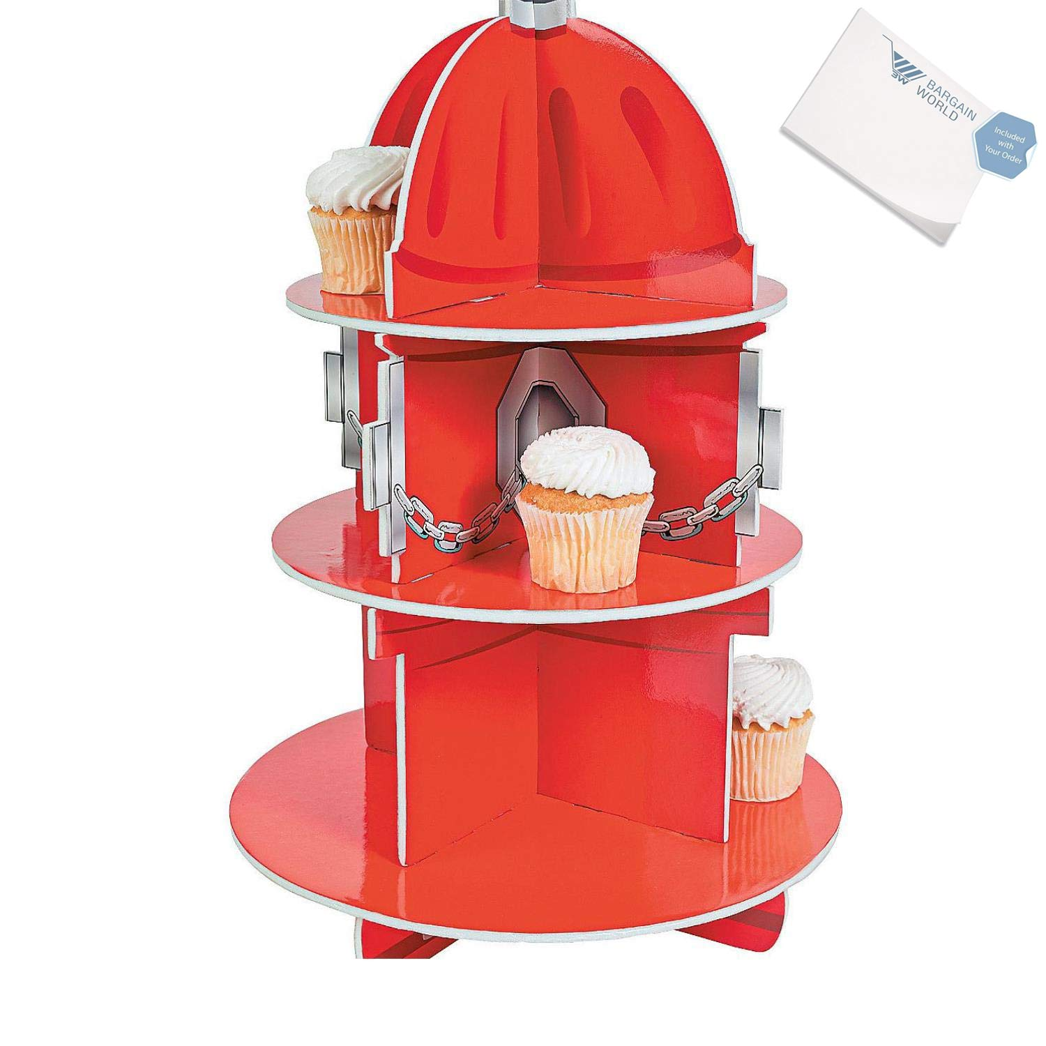 Bargain World Fire Hydrant Cupcake Holder (With Sticky Notes)