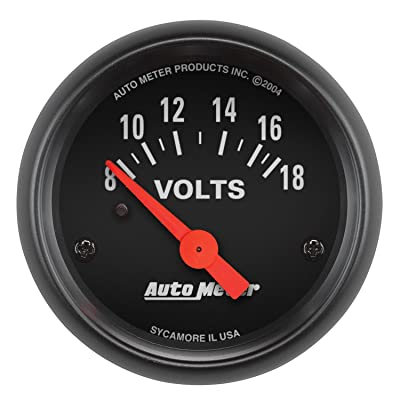 AUTO METER 2645 Z-Series Electric Voltmeter Gauge, 2.3125 in.: Automotive