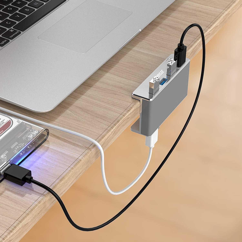 Caricatore portatile da viaggio con caricatore da viaggio portatile USB 3.0 HUB, design in lega di alluminio con 4 caricatori per laptop FairytaleMM