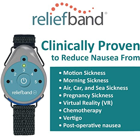 Amazon.com: Reliefband 1.5 Motion Sickness Wristband - 2 Pack - Easy-to-Use, Fast, Drug-Free Nausea Relief Band Helps with Morning Sickness, Nausea, ...