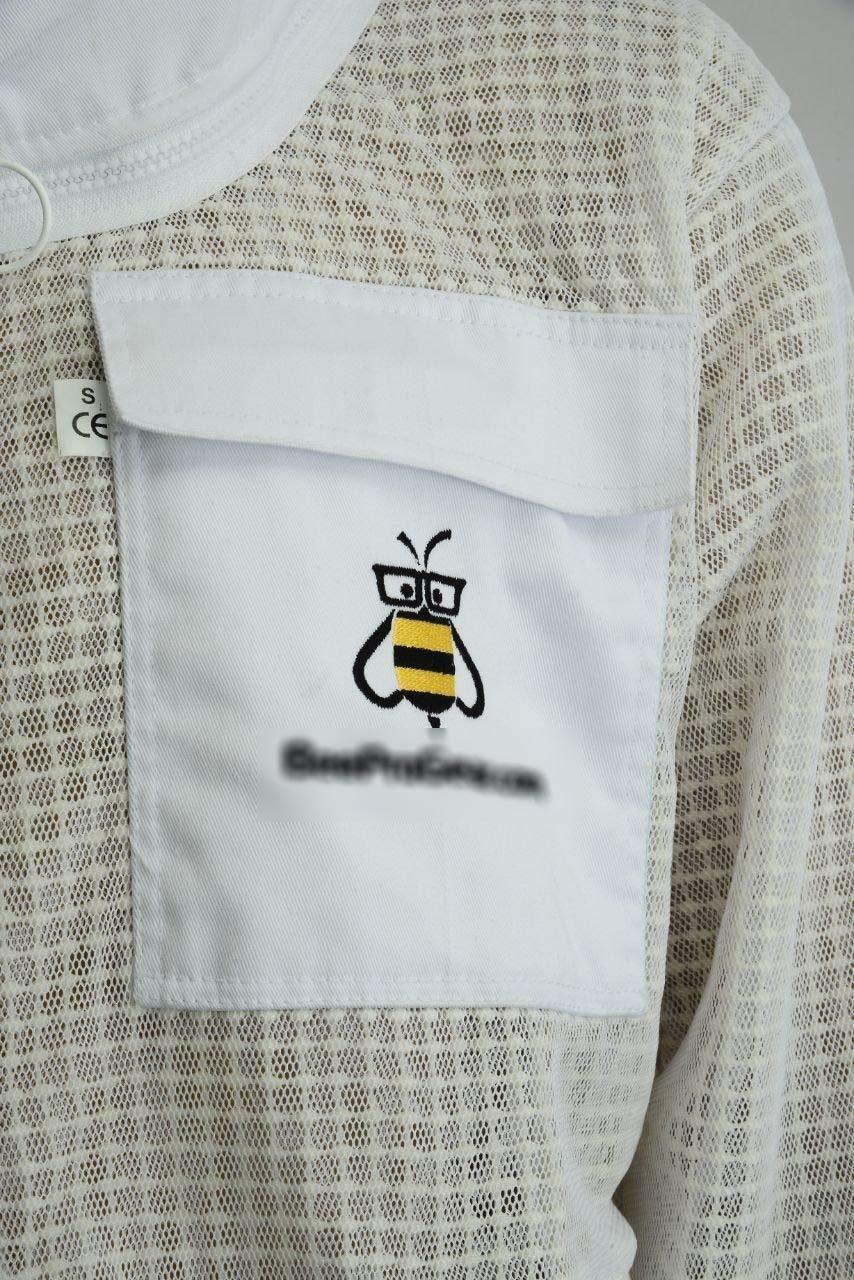 Tuta da Apicoltura a 3 Strati in Tessuto Protettivo Bianco Unisex Ultra ventilato di Sicurezza con Guanti GRATUITI Abito da Apicoltore Velo da Scherma BeeSuits SFVG