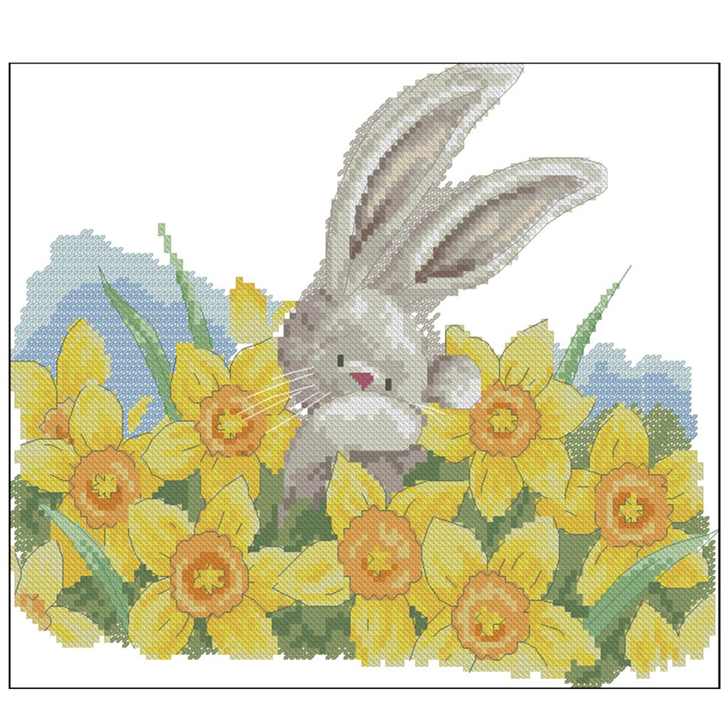 Moohue Counted Cross Stitch Kits Beginner Animals Fox Embroidery Pattern DMC Thread 14CT Cross Stitch Fabric Room Decor Bithday Gifts (Fox) QAZWSX QAZ0511