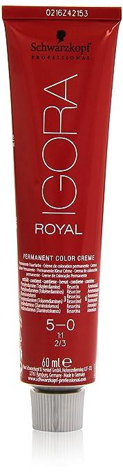 Schwarzkopf Professional Igora Royal 5-0 Tinte - 60 ml, Castaño claro (4045787199505)
