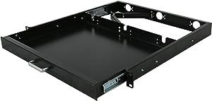 RAISING ELECTRONICS 1U Rack Mount Sliding Keyboard Tray Cantilever for Server Data Network Rack