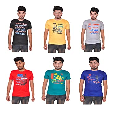 03a11d281 Back In Style, Flaunt The Same Adorning These Multi Colored Regular-Fit T- Shirt From The House Of Pari & Prince.
