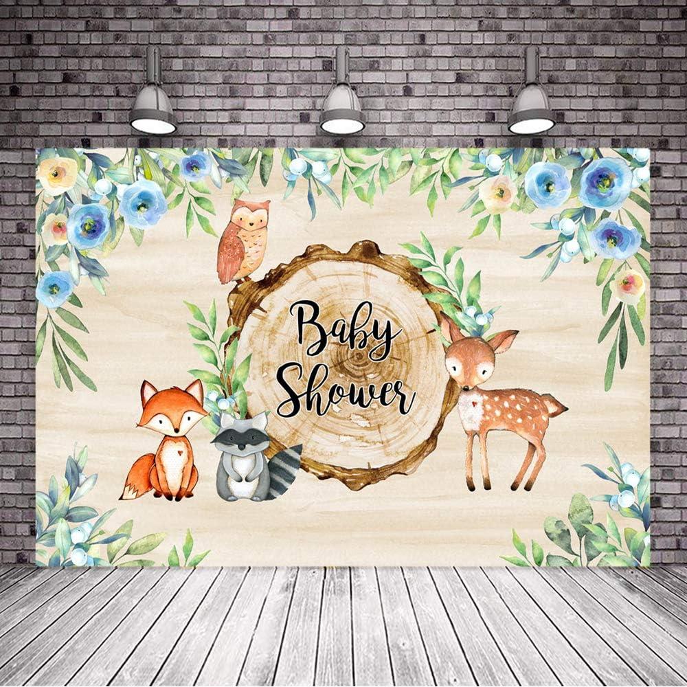 Baby Photography Backdrop Woodland Animals Birthday Party Background Prop Vinyl