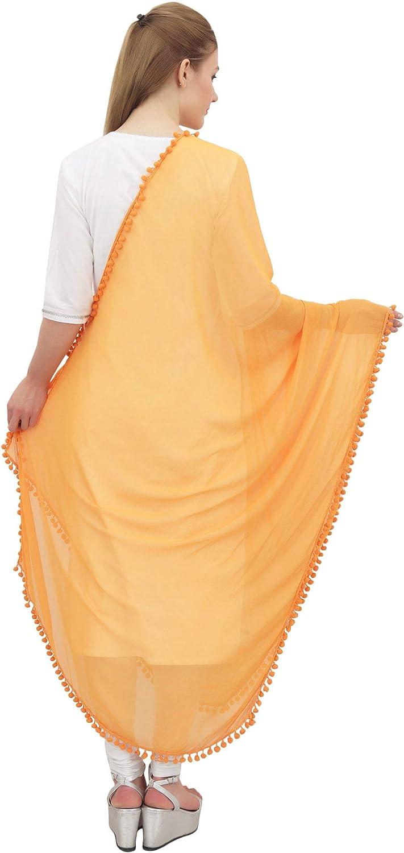 Phagun Indische Frauen Chiffon Dupatta Ansatz-Verpackungs-lange Stola Schals Chunni