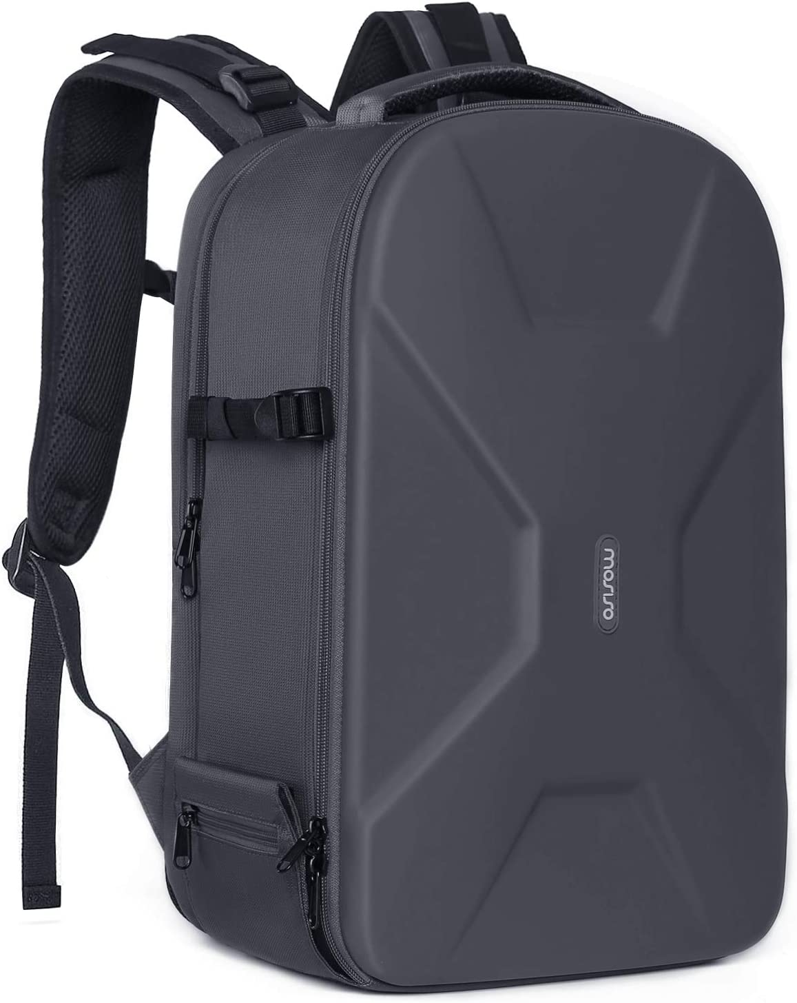 MOSISO Camera Backpack,DSLR/SLR/Mirrorless Photography Camera Bag Waterproof Hardshell Protective Case with Tripod Holder&Laptop Compartment Compatible with Canon/Nikon/Sony/DJI Mavic Drone, Gray