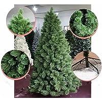 Árvore Pinheiro De Natal Luxo Verde Nevada 1,80m 420 Galhos A0318N