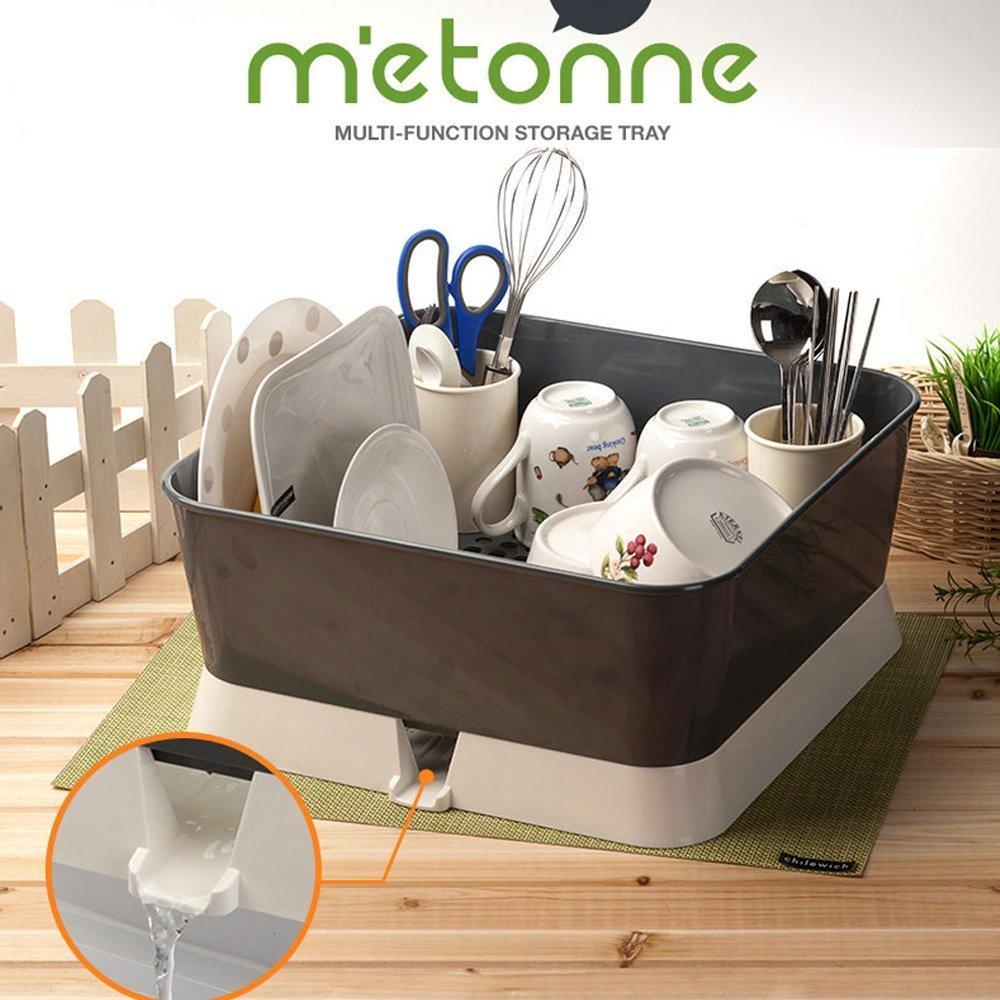 Baby Nursing Bottle Drying Rack Drain Tray Bottle Storage Organizer Basic (Modern Grey)