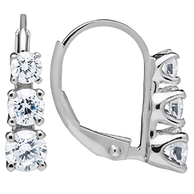 Earrings Jewelry & Watches Sensible Traditional Fashion Jewellery Cubic Zirconia Ad Cz Dangler Drop Earrings Gifts Clients First