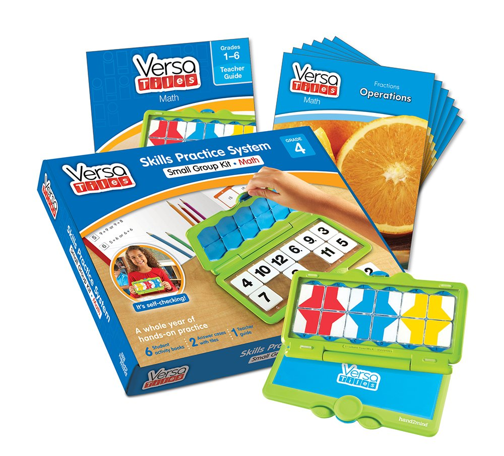 1634061047 hand2mind VersaTiles Math an Engaging Puzzle Game Kit for Kids (Grade 3+) - Fractions, Multiply and Divide, and Geometric Measurement | 6 Student Activity Books and 1 Teacher Guide 712B4W73HvhL