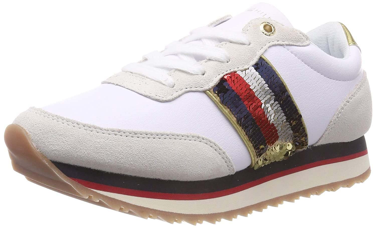 1409950a99 Tommy Hilfiger Tommy Sequins Retro Runner, Sneakers Basses Femme