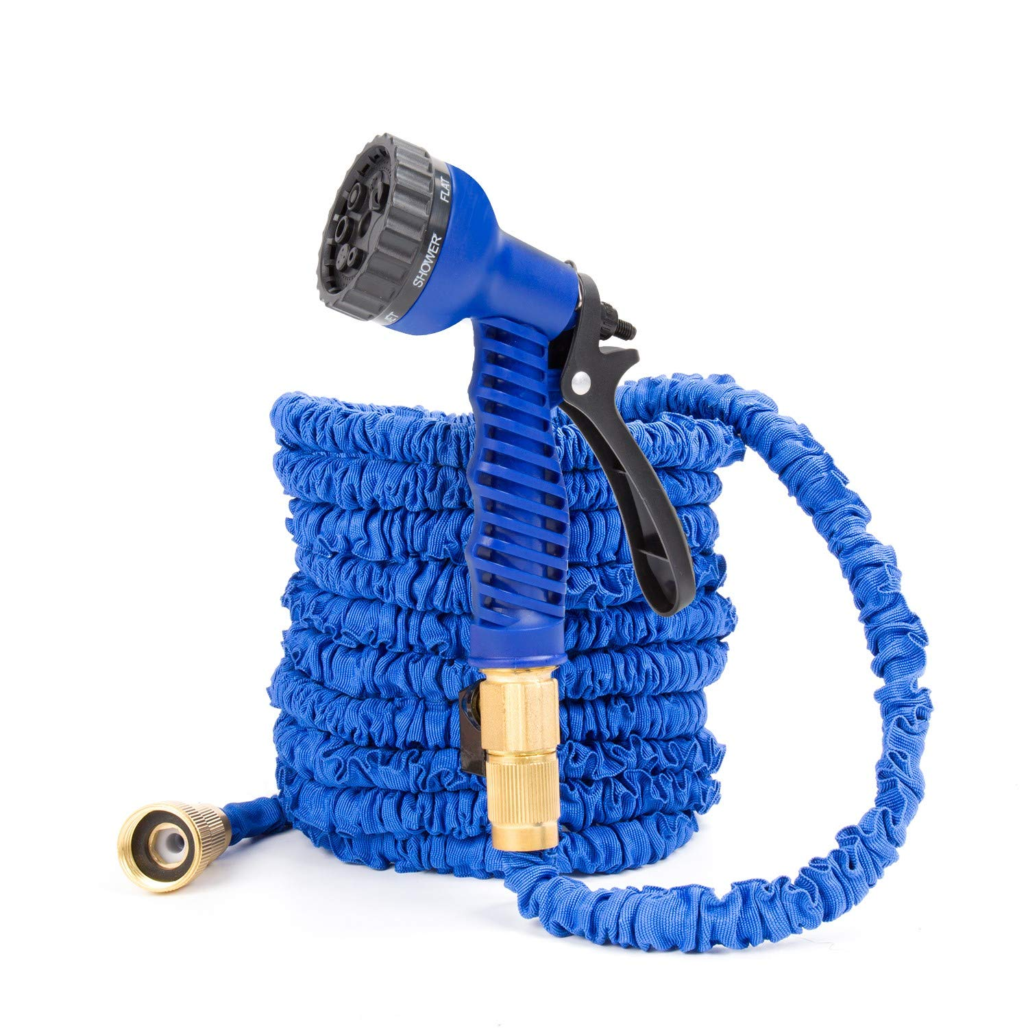Homsoph Garden Hose, Expandable Hose, Orbit sprinklers, Colapsable Hose Heavy Duty, 50ft, As seen on tv, Ideal for Gardening, Plant & Lawn Watering [Blue]