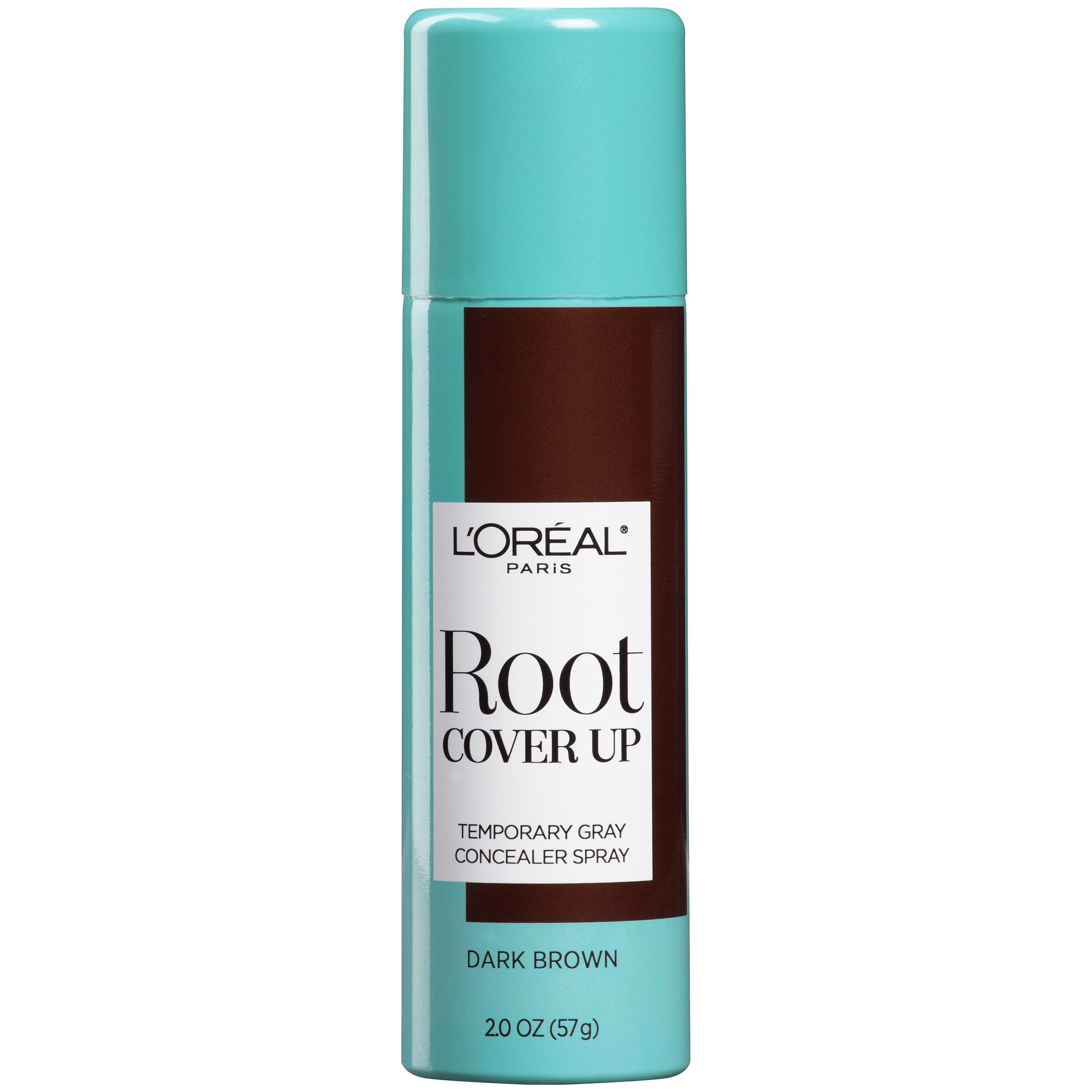L'Oreal Paris Magic Root Cover Up Gray Concealer Spray, Dark Brown, 2 oz.(Packaging May Vary) by L'Oreal Paris