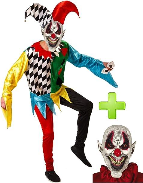 Disfraces Halloween Disfraz de Joker Poker diabolico: Amazon.es ...