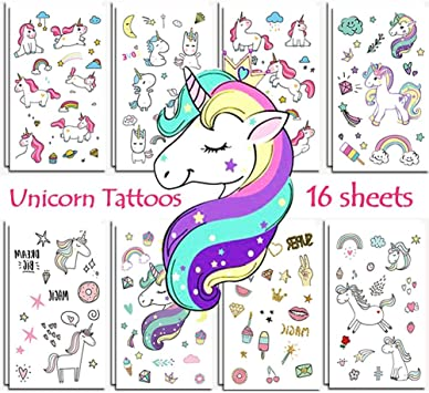 Amazon.com: vindyeer unicornio Tatuajes Temporales Para ...