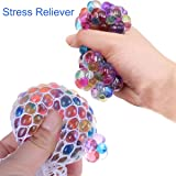 5 Pack Stress Mesh Ball LED Glowing Squeeze Grape