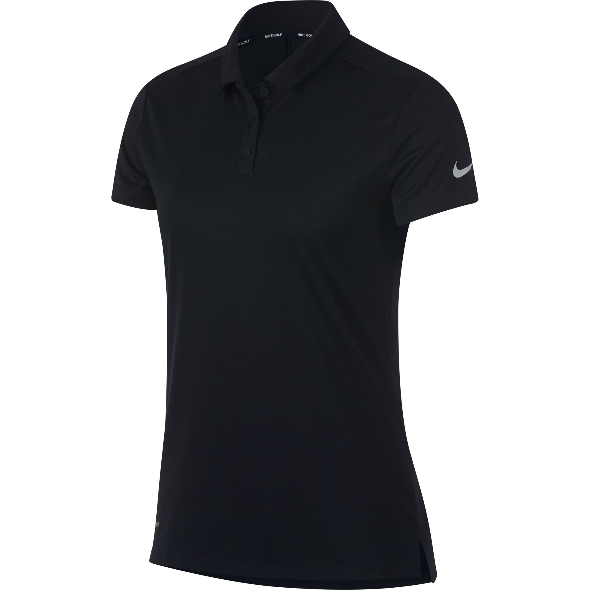 NIKE Women's Dry Short Sleeve Golf Polo, Black/Flat Silver, Medium by Nike