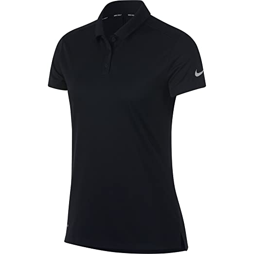 24a2a2794e34f NIKE Women's Dry Short Sleeve Golf Polo, Black/Flat Silver, X-Small