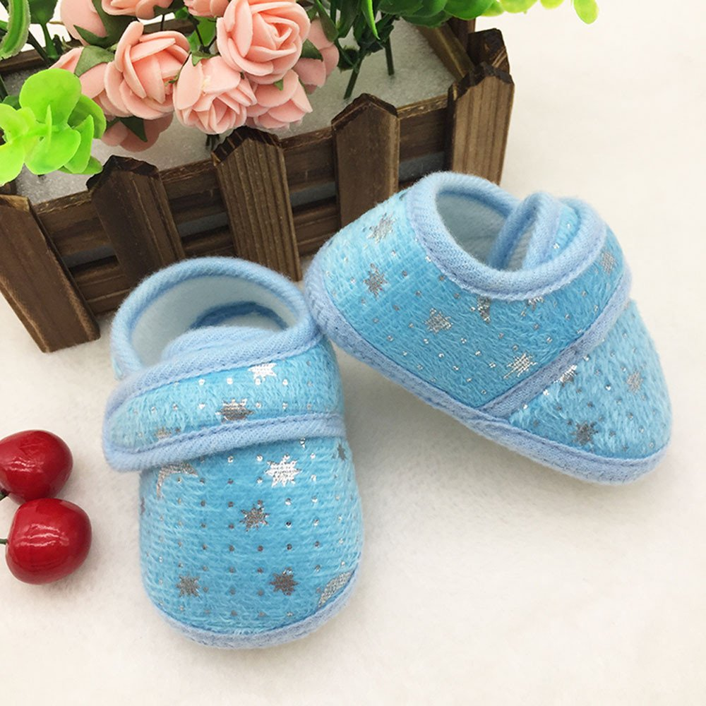 Baby Boys Girls Canvas Toddler Sneaker Starry Sky Printed Anti-Slip First Walkers Candy Shoes 0-18 Months