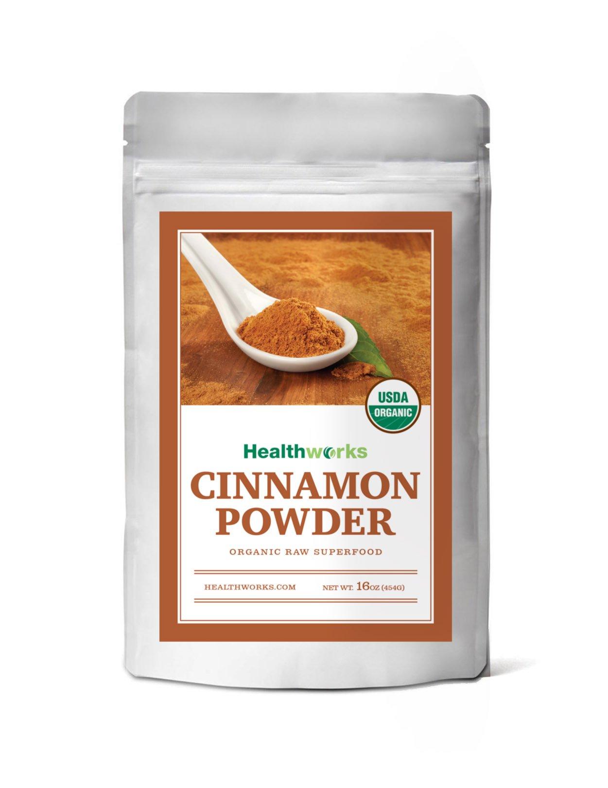 Healthworks Ceylon Cinnamon Organic Ground Powder 1Lb 10
