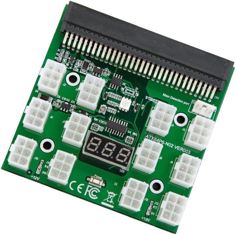 Breakout Board for GPU Open Rig Mining Ethereum ZEC ZCASH ETH 1200w/750w