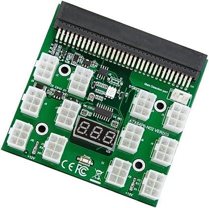Wishlink Breakout Board for GPU Open Rig Mining Ethereum ZEC ZCASH ETH 1200w//750w