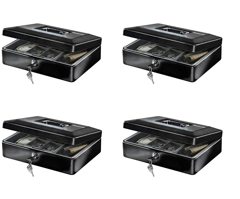 SentrySafe CB-12 Cash Box with Money Tray and Key Lock 0.21 cu Feet