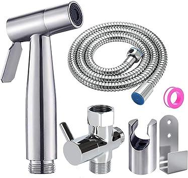 Faucet Sprayer Bidet Handheld Bidet Toilet Sprayer Premium Stainless Steel Hand Bidet Sprayer Hand Held Water Hose Attachment For Bathroom Sink Or Toilet Amazon Ca Beauty