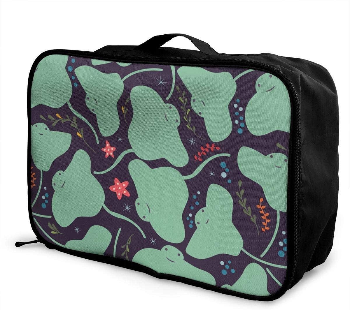 Qurbet Bolsas de Viaje, Travel Lightweight Waterproof Foldable Storage Carry Luggage Duffle Tote Bag - Kawaii Sting Ray