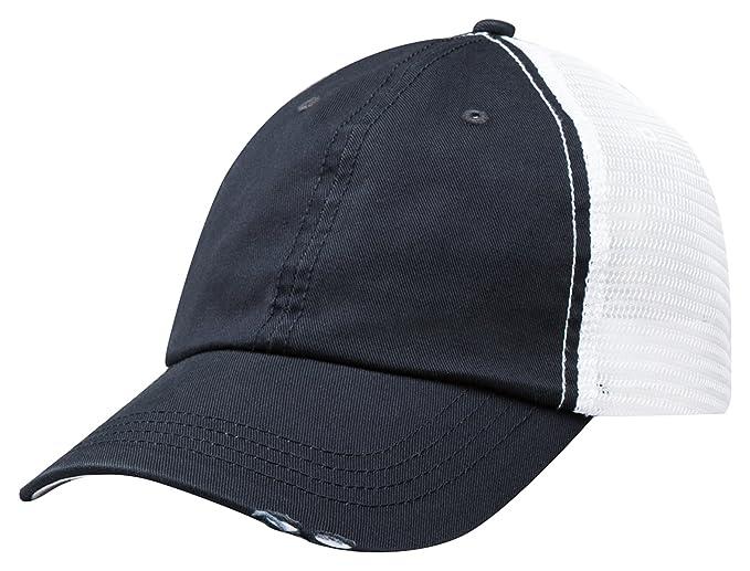 004e0e9b Mega Cap Men's Unstructured Low Profile Cap, Navy/ White, One Size ...