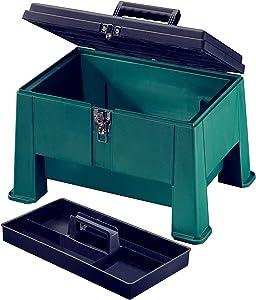 "Step N Store, Step Stool Tool Box 20"" Garden Green"