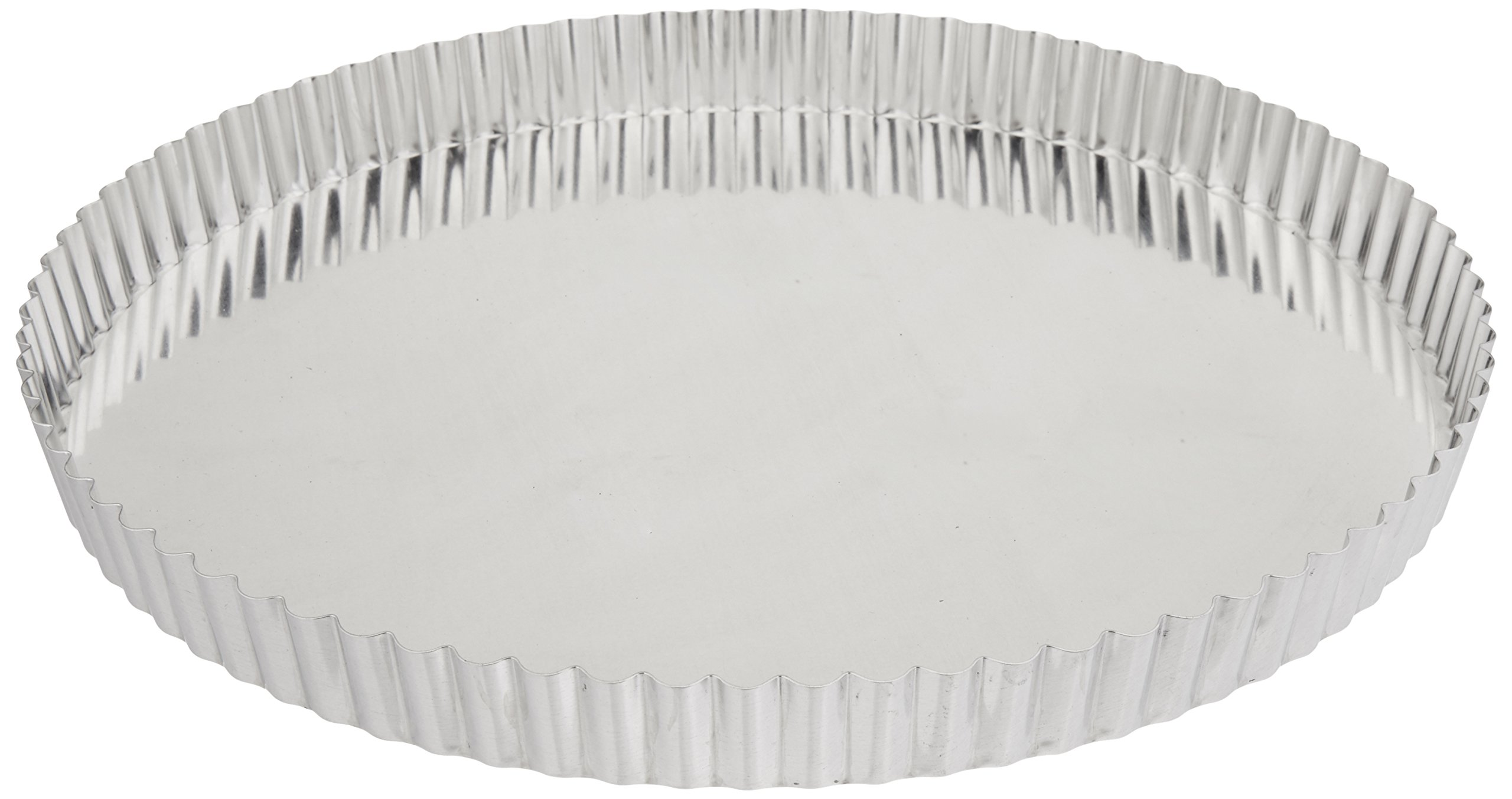 Paderno World Cuisine 12.5 Inch Fluted Non-Stick Tart Mold with Removable Bottom