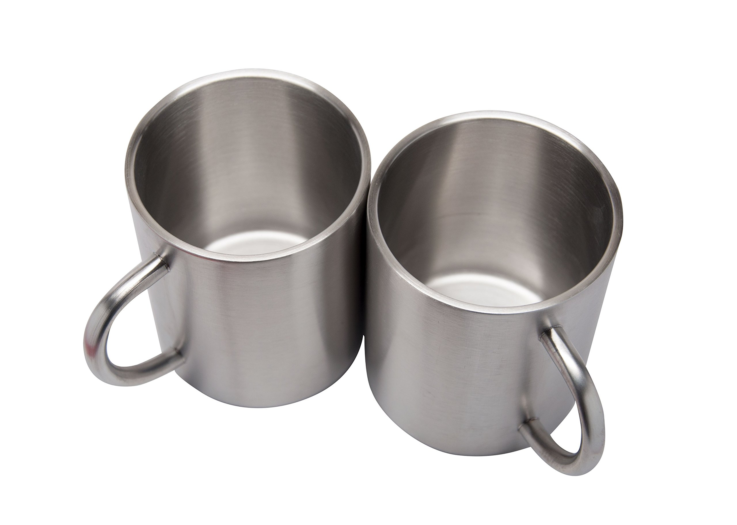 2 Pack Stainless Steel 15 Oz Double Walled Camping Cups 100% BPA Free Metal Mugs Outdoor Camp Cookware Military Surplus BBQ Hunting Accessories Bar BQ 4 Inch by Xena Intelligent Security (Image #5)