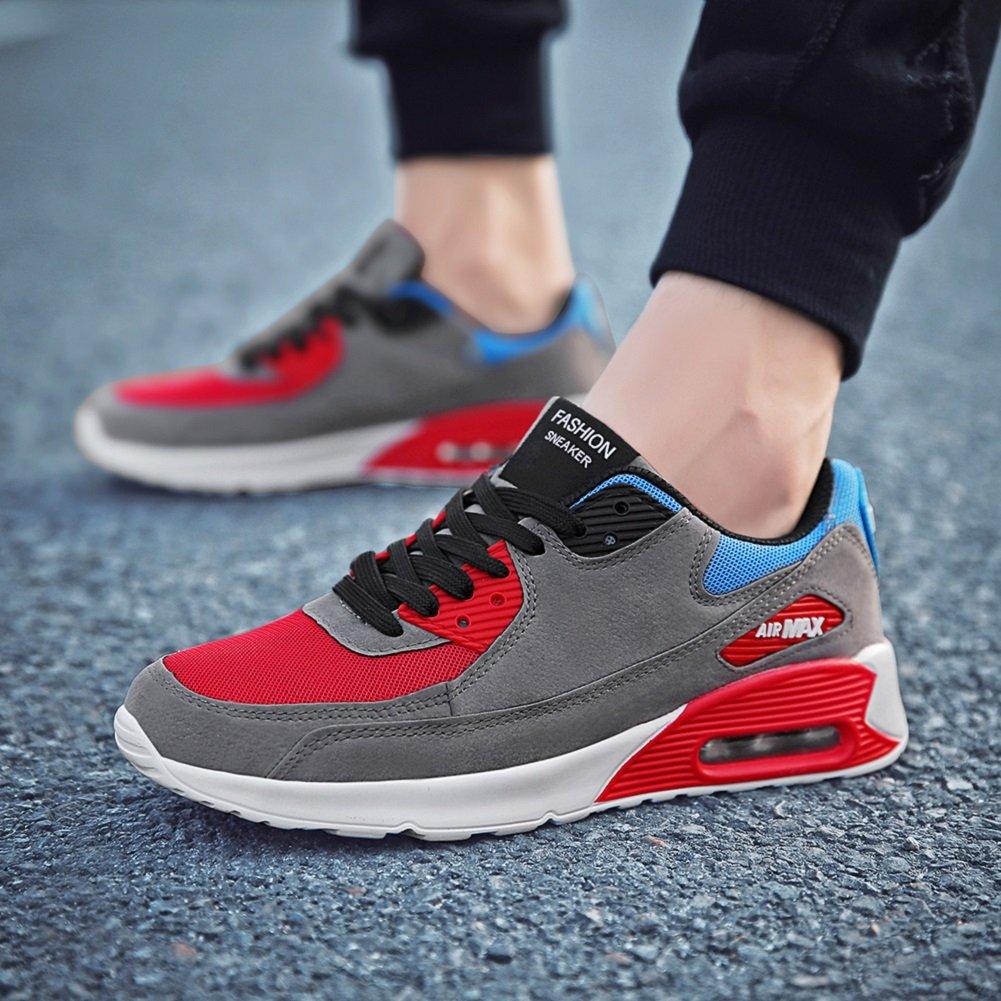 JiYe Running Shoes Men Fashion Students Breathable air Cushion Flyknit Sneakers,Grey,43EU=9.5US-Men by JiYe (Image #6)