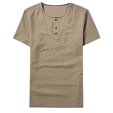 59d324b1c3344 FAMILIZO Camisetas Manga Corta Hombre Moda Camisetas Hombre Tallas Grandes  Camisetas Hombre Sport Camisetas Hombre Algodón