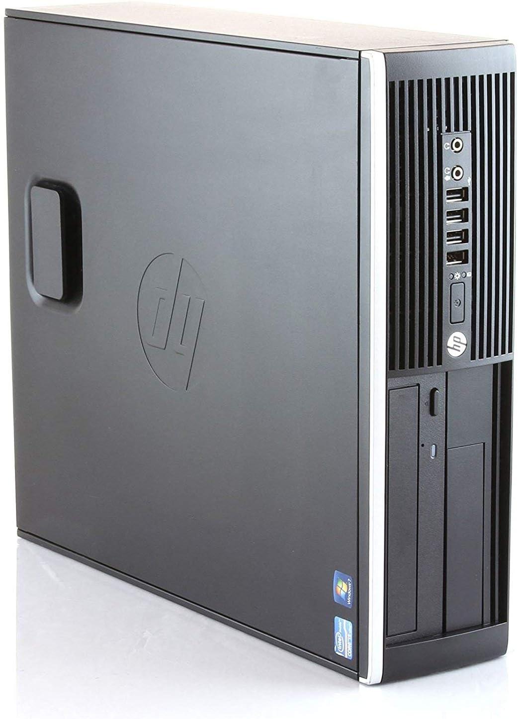 HP Elite 8300 - Ordenador de sobremesa (Intel Core i7-3770, 32GB de RAM, Disco SSD 240GB + 500GB HDD, Lector DVD,Grafica 2GB HDMI, WiFi, Windows 10 Pro ES 64) - Negro (Reacondicionado)