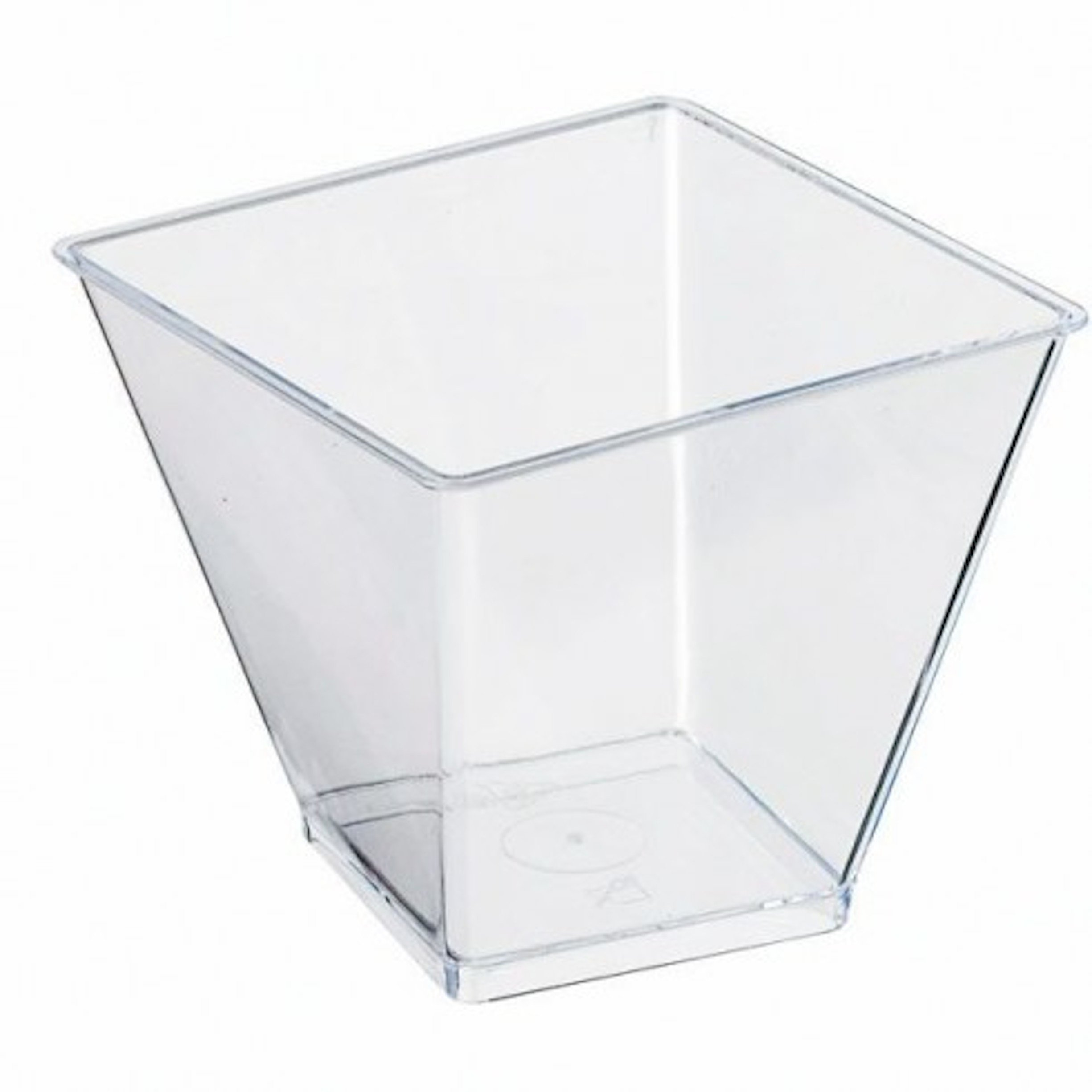 Square Clear Plastic Cup (Case of 600), PacknWood - Transparent Recyclable Plastic Bulk Case of Cups (3.3 oz, Top 2.4'' x 2.4'', Bottom 1.5'' x 1.5'') 209MBZENO10 by PacknWood (Image #2)