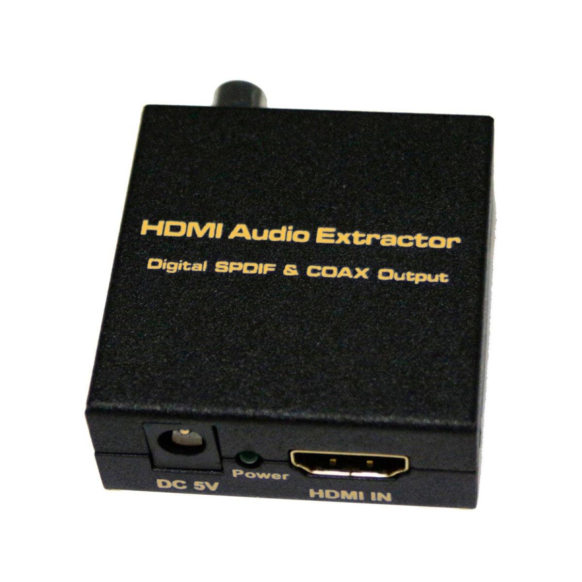 WenL HDMI V1.4 Digital Audio Extractor Entrada HDMI SPDIF + COAX Salida Soporte TDS / Duboy-AC3: Amazon.es: Deportes y aire libre