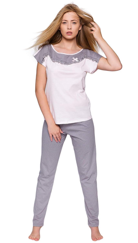Sensis Pigiama//tuta trendy composto da maglietta a maniche corte e pantaloni lunghi 100/% cotone made in EU