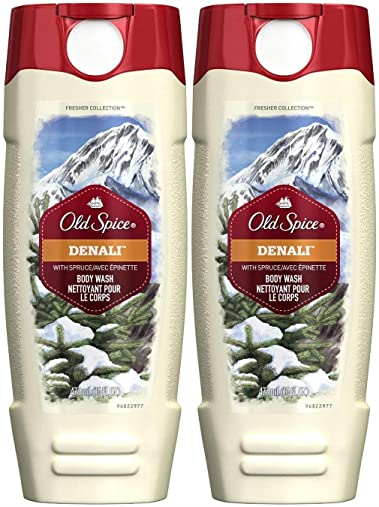 Old Spice Fresher Collection Men's Body Wash, Denali, 16 Ounce (Pack of 2)