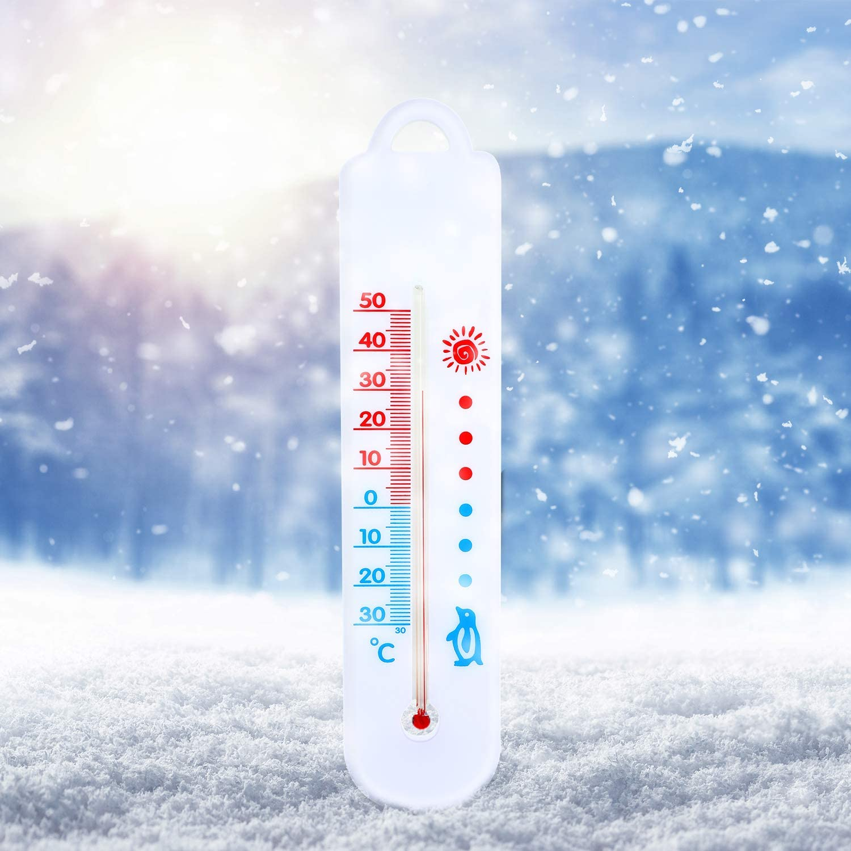 4 Pieces Fridge Thermometer Refrigerator Temperature Gauge for Kitchen Freezer Chiller Cooler
