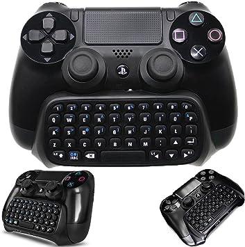 WHITEOAK - Teclado PS4 inalámbrico, Mini chatpad, Gran Adaptador de Teclado para Playstation 4 PS4, Slim, Controlador Pro: Amazon.es: Electrónica