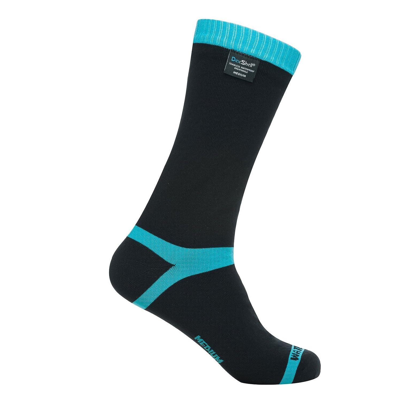 Dexshell CoolVent Unisex mitad de la pantorrilla impermeable calcetines negro/azul